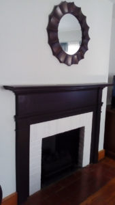 fireplace after finishing