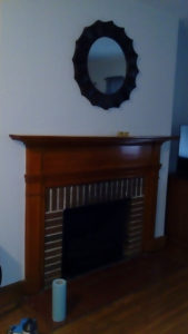 fireplace before finishing